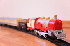 Red toy train Royalty Free Stock Photos