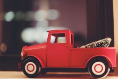 Red Toy Truck Royalty Free Stock Photos