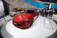 Red toyota 86 sport car. Road to Chinas West - 15th Chengdu Motor Show, September 1th-9th, 2012 Stock Images