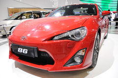 Red toyota 86 sport car. Road to Chinas West - 15th Chengdu Motor Show, September 1th-9th, 2012 Royalty Free Stock Image