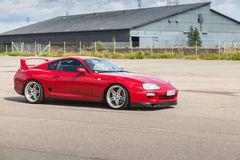 Red Toyota Supra A80 Stock Photography