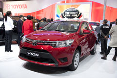 Red Toyota Vios car Stock Image