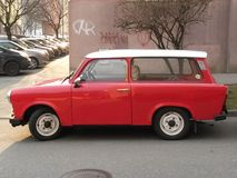 Red Trabant car Royalty Free Stock Image