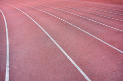 Red track lanes Stock Photos