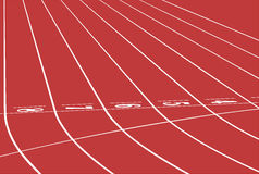 Red track running Royalty Free Stock Images