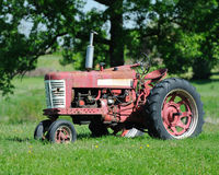 Red tractor Royalty Free Stock Photo