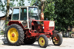 Red tractor Royalty Free Stock Images