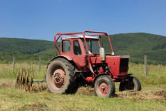 A red tractor Royalty Free Stock Photography