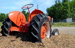 Red Tractor. Image of a red farm tractor Royalty Free Stock Images