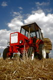 Red tractor. In the summer Stock Images