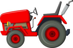 Red tractor cartoon for you design Stock Image