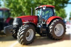 Red tractor Royalty Free Stock Image