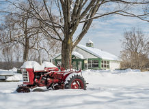 Free Red Tractor In Snow Royalty Free Stock Image - 50798756