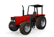 Red Tractor Isolated Royalty Free Stock Images