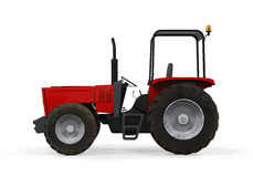 Red Tractor Isolated Royalty Free Stock Photos