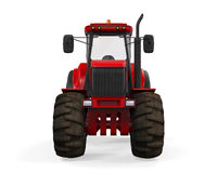 Red Tractor Isolated Stock Image