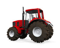 Red Tractor Isolated Royalty Free Stock Photo