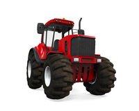 Red Tractor Isolated Royalty Free Stock Photography