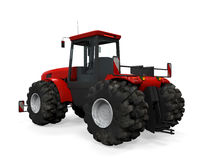 Red Tractor Isolated Stock Photography
