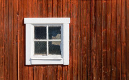 Red traditional barn wall Royalty Free Stock Image