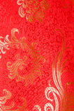 Red traditional Chinese silk dress Stock Photography