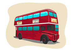 Red traditional double decker London bus Stock Photo