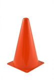 Red traffic cone Stock Photo