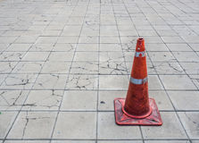 Red traffic cone Stock Photos