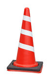 Red traffic cone isolated on white Stock Images