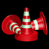 Red traffic cones Royalty Free Stock Images