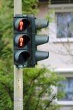 Red traffic lamp Stock Photos