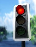 Red traffic light Stock Photos