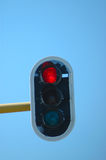 Red traffic light Royalty Free Stock Images