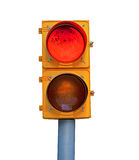 Red traffic light Stock Photography