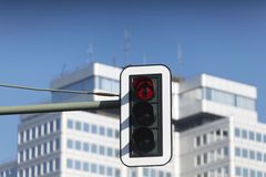 Red traffic light in city Royalty Free Stock Photo