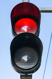 Red Traffic Light Illuminated Stop Daytime Public Safety Royalty Free Stock Images