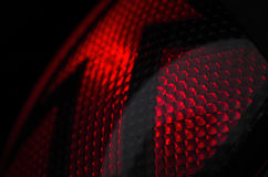 Red traffic light. Macro detail of red traffic light Royalty Free Stock Photos