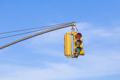 Red traffic light Stock Images