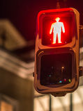 Red traffic light, for pedestrians, Japan Royalty Free Stock Image