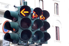 Red traffic lights Royalty Free Stock Photo