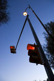 Red traffic lights Royalty Free Stock Photos
