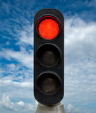 Red traffic lights Stock Photo