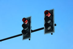 Red traffic lights. Red traffic light means that you stop Stock Photography