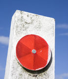 Red Traffic Reflector Royalty Free Stock Photography