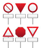 Red traffic sign Stock Photo