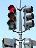 Red Traffic Signal Stock Image