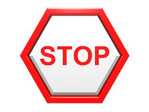 Red traffic stop sign Stock Photography