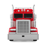 Red Trailer Truck. Isolated on white background. 3D render Stock Photos