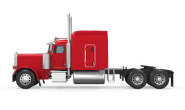 Red Trailer Truck Isolated. On white background. 3D render Stock Photography