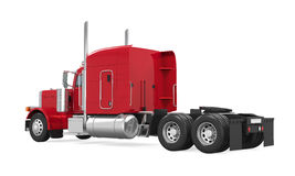 Red Trailer Truck Isolated. On white background. 3D render Royalty Free Stock Images